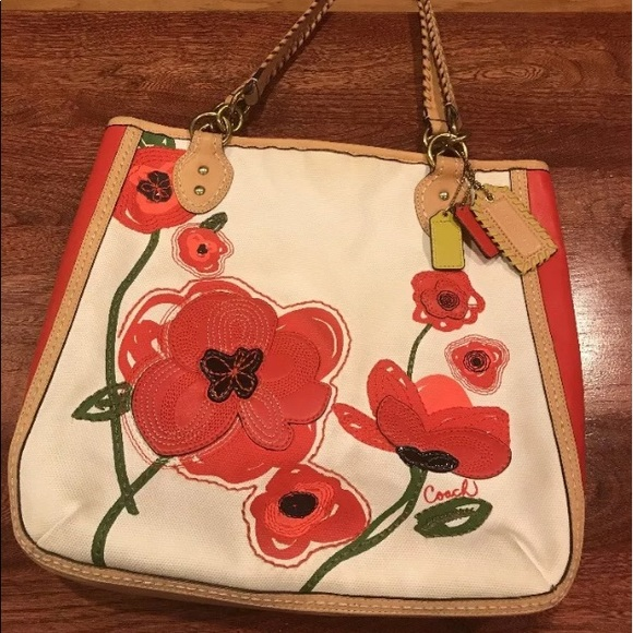 Coach Bags Rare Poppy Flower Tote Bag Purse 22479 Poshmark